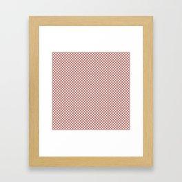Desert Sand and White Polka Dots Framed Art Print