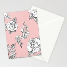 Garden Snake and Roses Stationery Cards