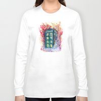 doctor Long Sleeve T-shirts featuring Doctor Who Tardis by Jessi Adrignola