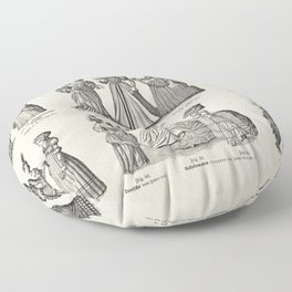 Women's Fashions through the Ages v.1 Floor Pillow