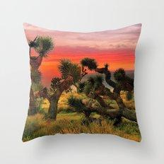 Sunset at Joshua Tree National Park, California, USA Throw Pillow