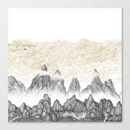 Cinnamon Mountain Clouds 2: Lake Canvas Print