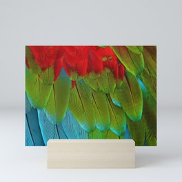 Catalina Macaw Feathers Mini Art Print
