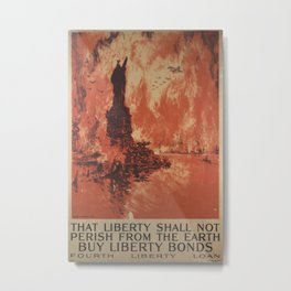 Vintage poster - Liberty Shall Not Perish Metal Print