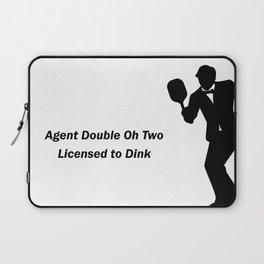 Agent 002 - Licensed to Dink Laptop Sleeve