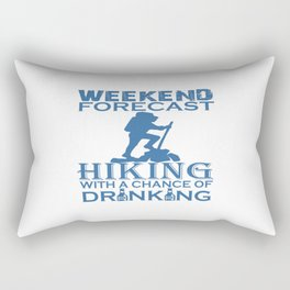 WEEKEND FORECAST HIKING Rectangular Pillow