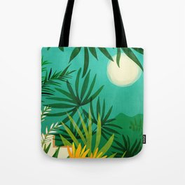 Exotic Garden Nightscape / Tropical Night Series #2 Tote Bag