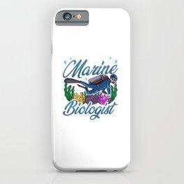 Cute & Funny Future Marine Biologist Biology iPhone Case