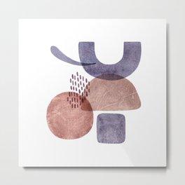 Abstract watercolor chapes Metal Print