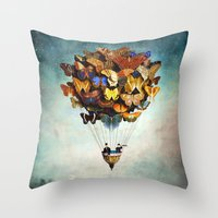 christian Throw Pillows featuring Fly Away by Christian Schloe