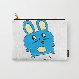 Ah Blur The Blue Bunny Carry-All Pouch