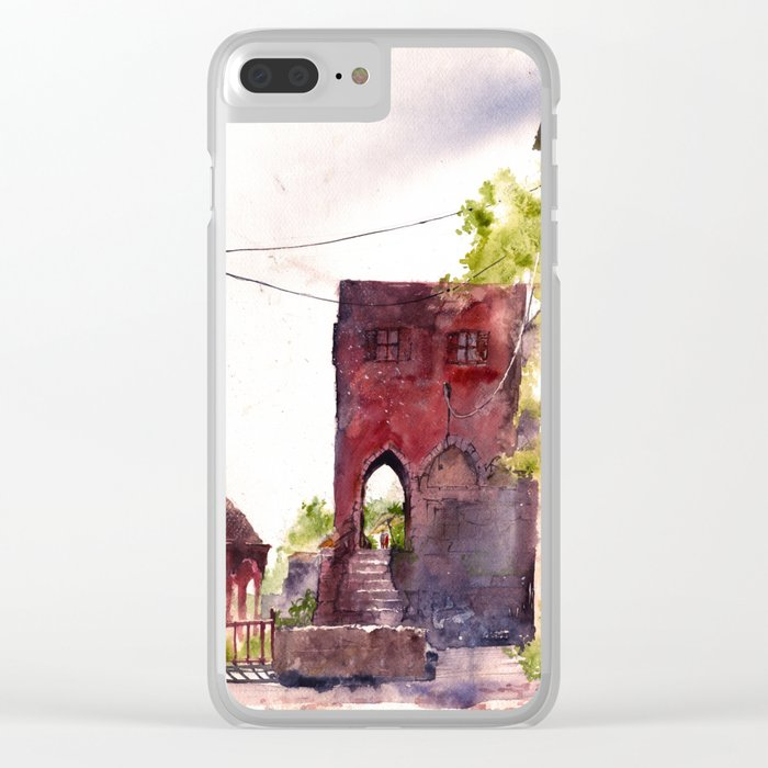 Rhodes old town streets Clear iPhone Case