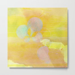 gold clouds and bubbles Metal Print
