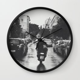 Couple in a Vespa Wall Clock