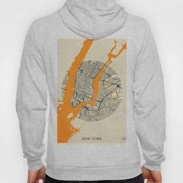 New York Map Moon Hoody