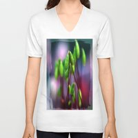 moss V-neck T-shirts featuring Moss  by LoRo  Art & Pictures