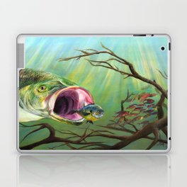 Large Mouth Bass and Clueless Blue Gill Fish Laptop & iPad Skin
