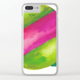 180819 Geometrical Watercolour 2  | Colorful Abstract | Modern Watercolor Art Clear iPhone Case