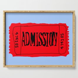 Admission ticket Serving Tray