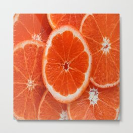 Orange-citrus-slices Metal Print