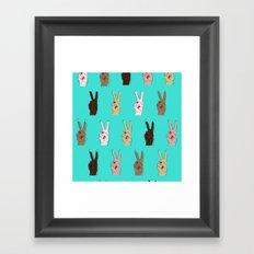 peace, out. Framed Art Print