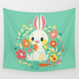 Sweetest Easter Bunny Wall Tapestry
