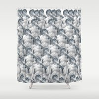 david fleck Shower Curtains featuring David by Kate Malinak