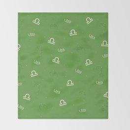 Libra Pattern - Green Throw Blanket