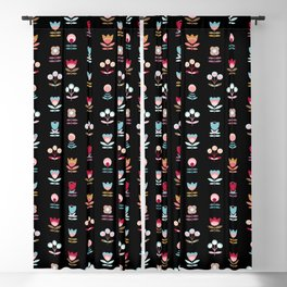 Pattern graphic flowers Blackout Curtain