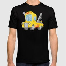 tow truck Black LARGE Mens Fitted Tee