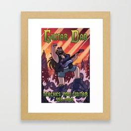 Guitar Dad Framed Art Print