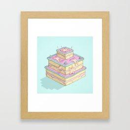 Cake lovers Framed Art Print