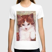 copper T-shirts featuring Copper kitten by Michelle Behar