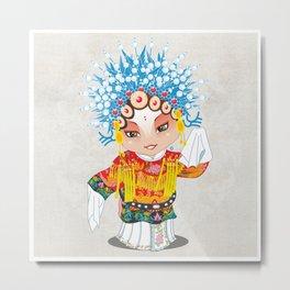 Beijing Opera Character SunShangXiang Metal Print