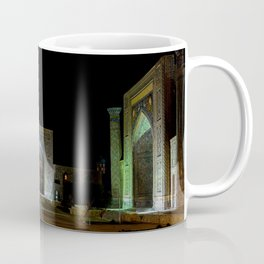 Registan square at night - Samarkand Coffee Mug