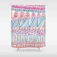 mexico Shower Curtains featuring New Mexico by Laura Maxwell