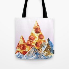 Pepperoni Pizza Peaks Tote Bag