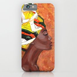African American Woman iPhone Case