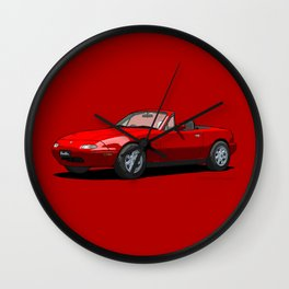 Eunos Roadster MK1 Classic Red Wall Clock