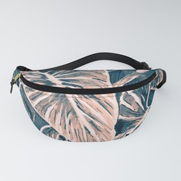 Pop Anthurium Leafs and Flowers Fanny Pack
