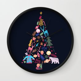 Magic of a christmas tree Wall Clock