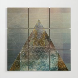 Perseid - Contemporary Geometric Pyramid Wood Wall Art