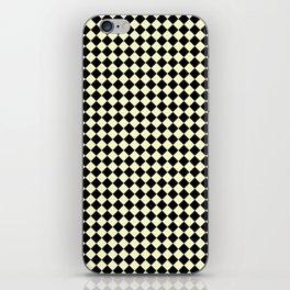 Black and Cream Yellow Diamonds iPhone Skin