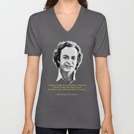 Richard Feynman Quote Unisex V-Neck