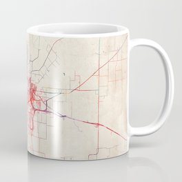 Wichita Falls map Texas painting Coffee Mug