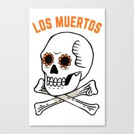 Los muertos / Orange Canvas Print