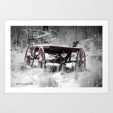Old Wagon Art Print