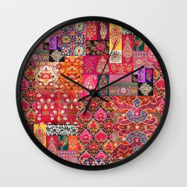 -A35- Traditional Colored Moroccan Artwork. Wall Clock
