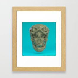 Skull Coral Reef Framed Art Print