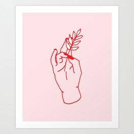 Hand Holding Art Print